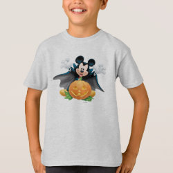 Kids' Hanes TAGLESS® T-Shirt with Vampire Mickey Mouse with Halloween Pumpkin design