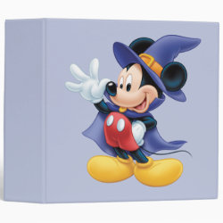Avery Signature 1' Binder with Halloween Mickey Mouse as Sorcerer with hat & cape design