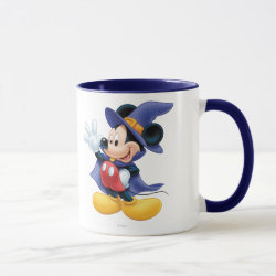 Combo Mug with Halloween Mickey Mouse as Sorcerer with hat & cape design