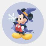 Halloween Mickey Mouse 2 Pegatina Redonda