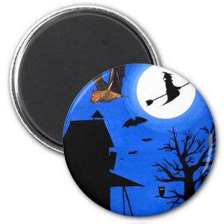 Halloween Midnight 2 Inch Round Magnet