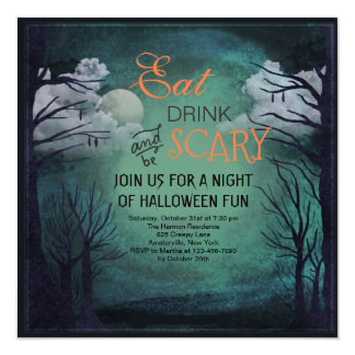 Halloween Midnight Invitation