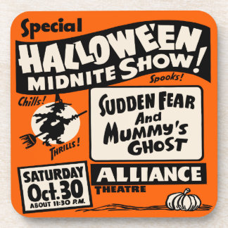 Halloween Midnite Show - Vintage Spook Show Poster Coaster