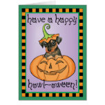 Halloween Min Pin Card