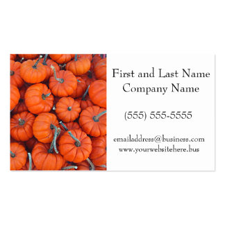 Halloween Mini Pumpkin Pattern Photo Double-Sided Standard Business Cards (Pack Of 100)