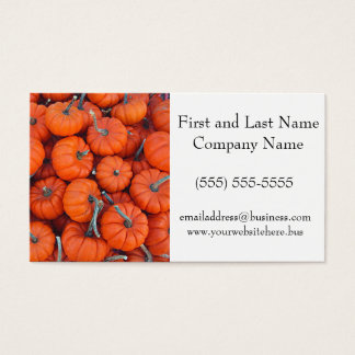 Halloween Mini Pumpkin Pattern Photo Business Card