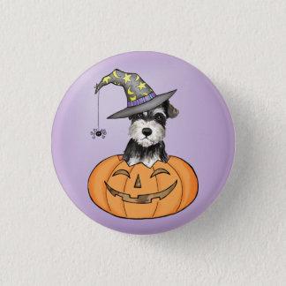 Halloween Miniature Schnauzer Pinback Button
