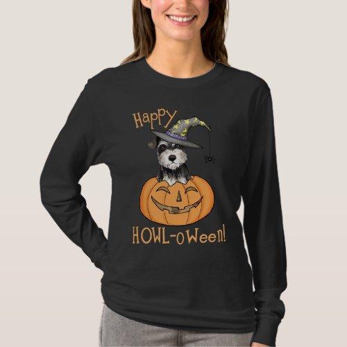 Halloween Miniature Schnauzer T_Shirt
