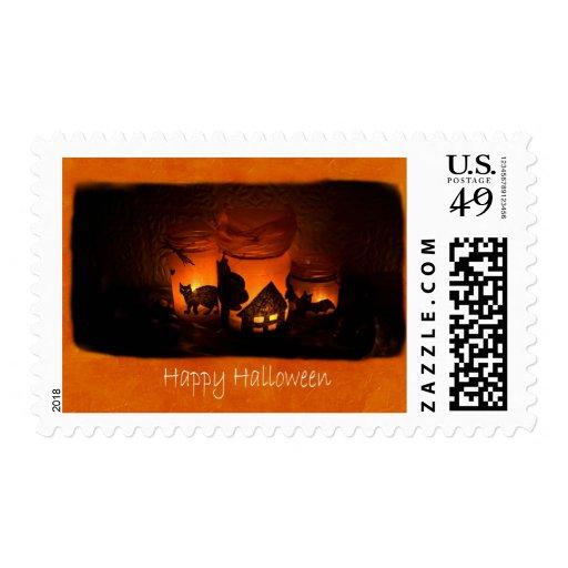Halloween mira al trasluz 1 - feliz Halloween Sello