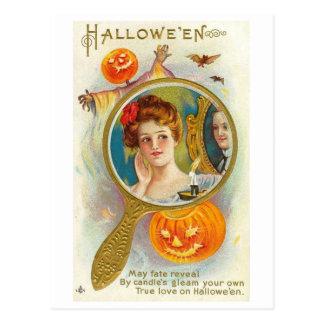 Halloween Mirror Postcard