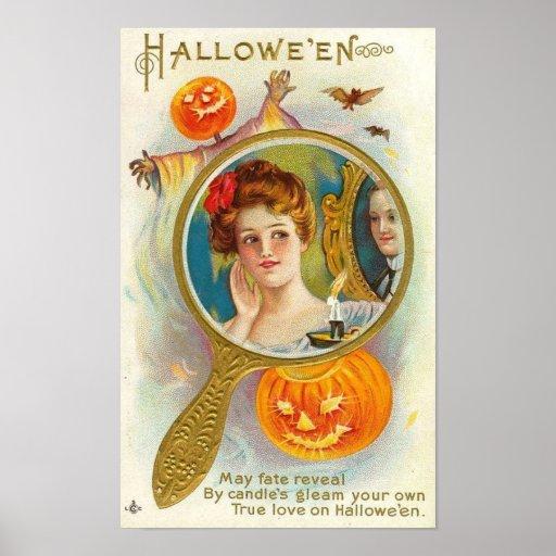 Halloween Mirror Print