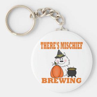Halloween Mischief Basic Round Button Keychain