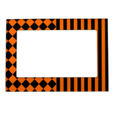 Halloween mix pattern magnetic frame