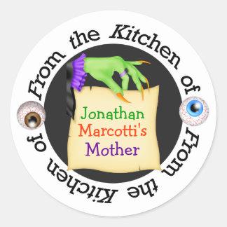 Halloween Mom Kitchen Sticker - SRF