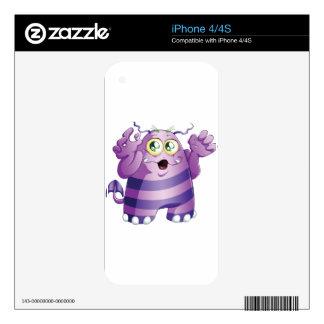 Halloween Monster 2 Decals For iPhone 4S