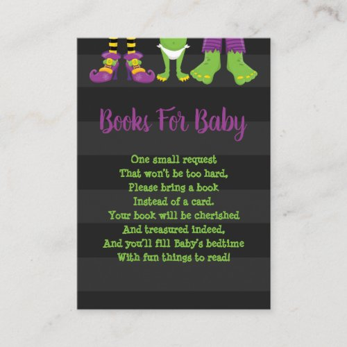 Halloween Monster Feet Books For Baby Enclosure Card
