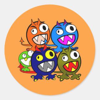 Halloween Monster Friends Classic Round Sticker