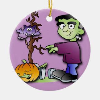 Halloween Monster Fun Ceramic Ornament