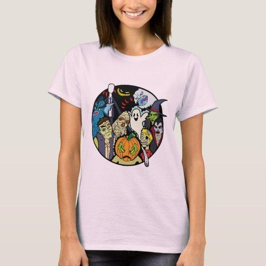 Halloween Monster Group T-Shirt