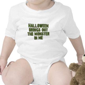 Halloween Monster In Me (Frankenstein green) Tshirts