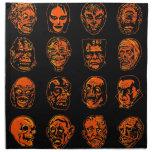Halloween Monster Masks Cloth Napkins