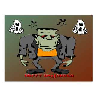 Halloween Monster Postcard