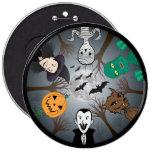 Halloween Monster's 6 Inch Round Button