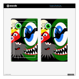 Halloween monsters decal for kindle fire