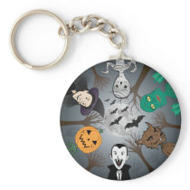 Halloween Monsters Keychain