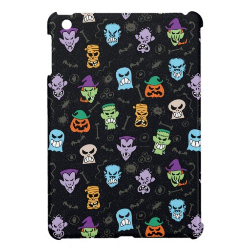 Halloween monsters making scary funny faces case for the iPad mini