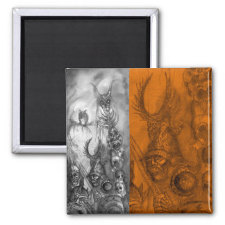 HALLOWEEN MONSTERS / ORC WAR 2 INCH SQUARE MAGNET