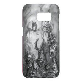 HALLOWEEN MONSTERS / ORC WAR Black White Fantasy Samsung Galaxy S7 Case