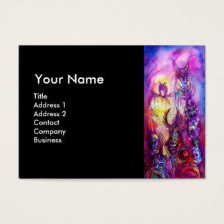 HALLOWEEN MONSTERS / ORC WAR MONOGRAM BUSINESS CARD