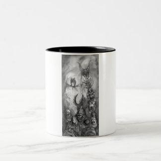 HALLOWEEN MONSTERS / ORC WAR Two-Tone COFFEE MUG