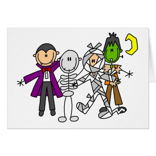Halloween Monsters Tshirts and Gifts Card