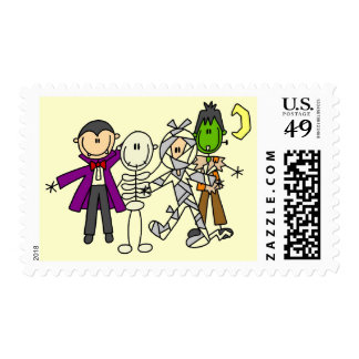 Halloween Monsters Tshirts and Gifts Stamps