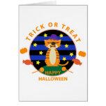 Halloween: Monstruo del tigre Felicitacion