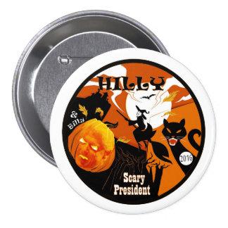 Halloween montañoso y Billy Pin Redondo De 3 Pulgadas