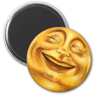 Halloween Moon 2 Inch Round Magnet