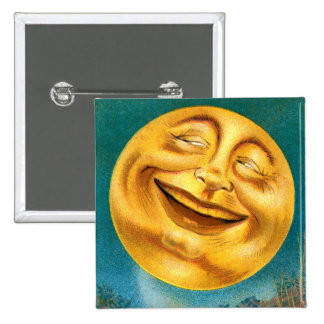 Halloween Moon 2 Inch Square Button