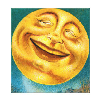 Halloween Moon Stretched Canvas Prints