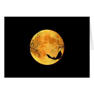 Halloween Moon Card