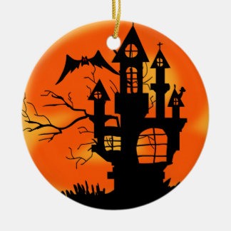 Halloween Moon Ceramic Ornament