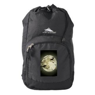 Halloween moon - full moon illustration backpack