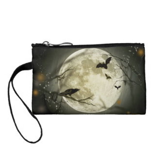 Halloween moon - full moon illustration coin purse