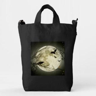 Halloween moon - full moon illustration duck bag