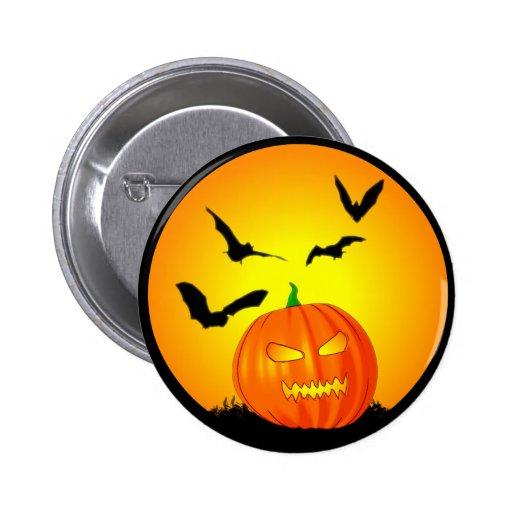 Halloween Moon Jack-O-Lantern 2 Inch Round Button