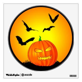 Halloween Moon Jack-O-Lantern Wall Decal
