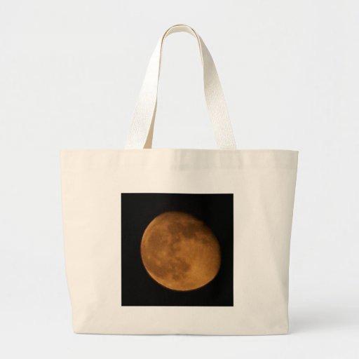 halloween moon jumbo tote bag