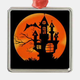 Halloween Moon Metal Ornament